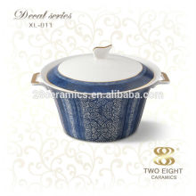 Wholesale dinnerware ceramic onion soup bowl with lid
