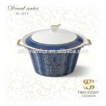 Оптовая посуда керамическая луковая суповая миска с крышкой
