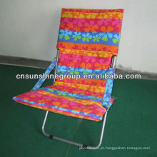 Portable beach chair with iron frame