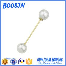 Broche de broche de perle personnalisée à la mode pour décoration