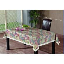 Toalha de mesa de gravação em PVC com apoio de flanela (TJG0002)