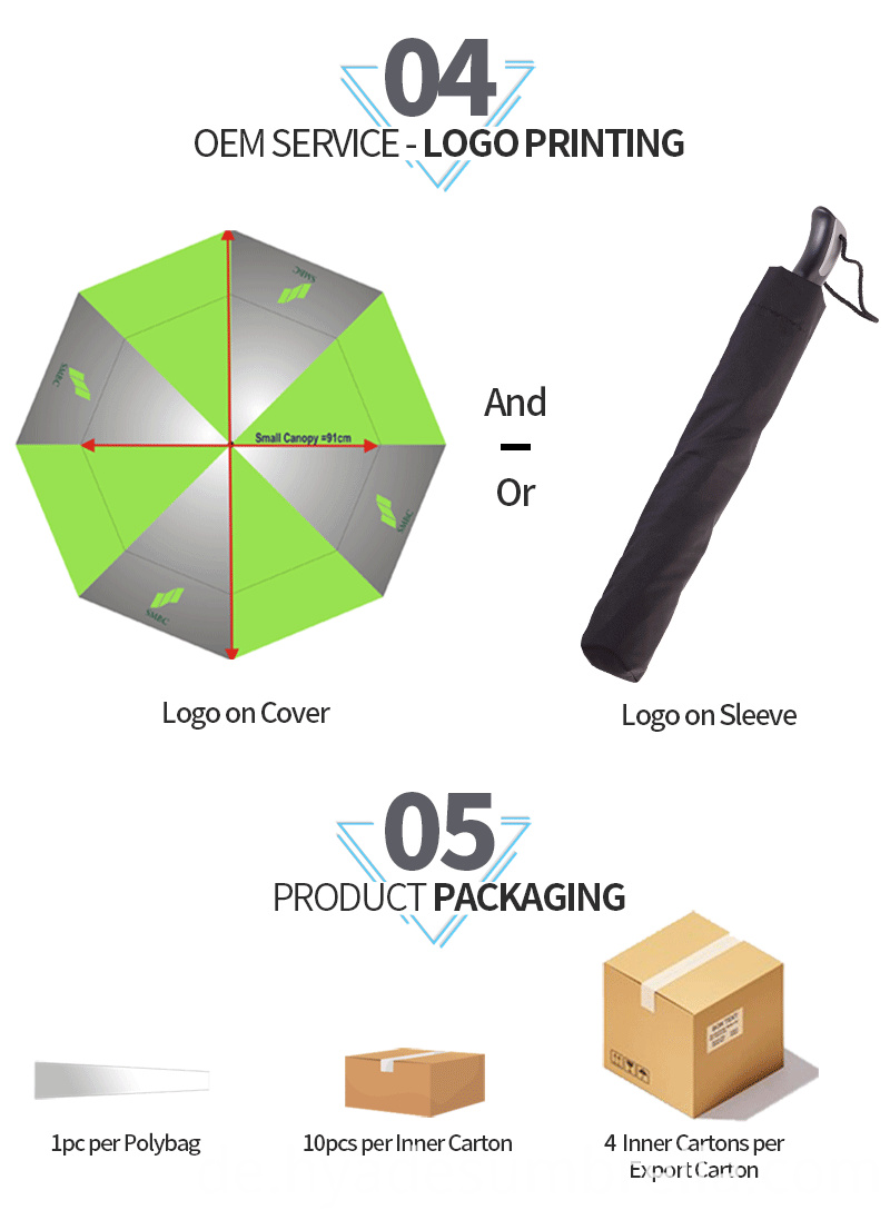 Big Size Windproof Mens 2 Folding Umbrella Promotional