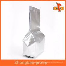 Stand up side gusset sliver tea packaging factories Guangzhou