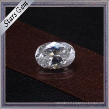 Ovale de 6X8mm 1.0 Carat coupent toujours des pierres lâches brillantes de Moissanite pour des bijoux
