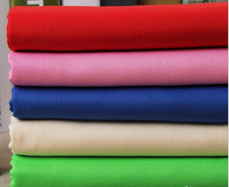Poly/cotton blended twill/drill fabric for garment