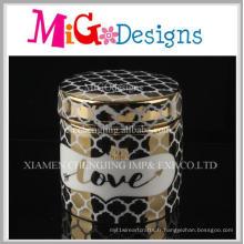 Boîte à bijoux décorative en céramique élégante à la maison moderne élégante