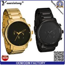 Yxl-426 2016 новый стиль мода мужские часы из нержавеющей стали Автоматический хронограф часы мужские Дата часы большой Циферблат промо-Mvmt часы