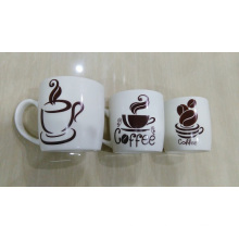 New Bone China Carton Decal Coffee Mug