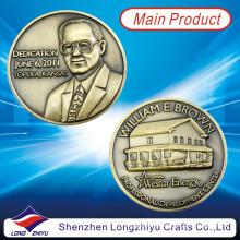Moedas antigas comemorativas em bronze gravadas em relevo de medalhão 3D (lzy1300058)