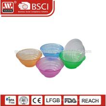 Material de PS de alta calidad ventas por mayor tamaño modificado para requisitos particulares y la ensaladera plástico de color con tapa