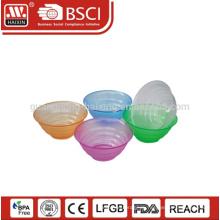PS материал высокого качества, оптовые продажи заказной размер & цвет пластика Салатница с крышкой