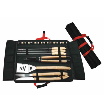 Set da barbecue 15 pezzi in borsa di nylon