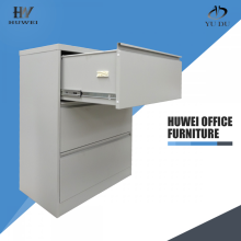 Furniture office steel 3 drawer lateral cabinet