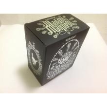 Caja corrugada impresa con estampado en caliente / caja impresa
