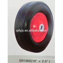 "rubber wheels for trolley 10""X2.5"""