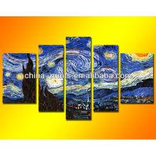 Van Gogh Pintura al óleo de la noche estrellada Arte famoso