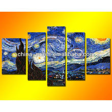 Pintura a óleo da noite estrelado de Van Gogh Artes famosas