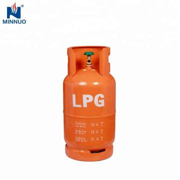 Cambodia best selling 15kg lpg gas cylinder,propane tank,orange gas bottle