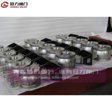 Siège en métal ou siège en PTFE V Vanne à boisseau sphérique