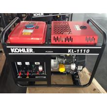 Gerador de gasolina de quadro aberto com chave única de 50Hz / 10kw de CA com motor KOHLER