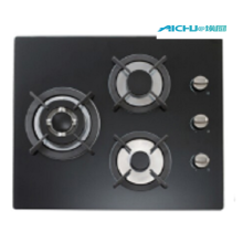 3 Burners Built In Tempered Glass Cooktop