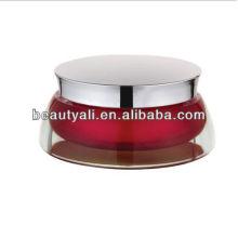 Lop cosmétique en acrylique crème emballage en jar