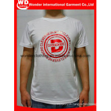 Hot Wholesale Cheap Top Quality Summer Round Neck White Printing Mens T Shirt