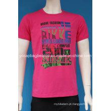 Camisa de T dos homens da cópia da transferência de calor, camisa do esporte T