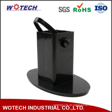 Parte de estampado de metal con recubrimiento en polvo negro