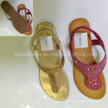 New Style Fashion Femmes Chaussures Flip Flop Sandales plates (JH9)