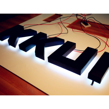 Carteles de pared con letras de metal a medida LED
