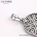 32327 xuping fashion rhodium color luxury women jewelry muslim pendant
