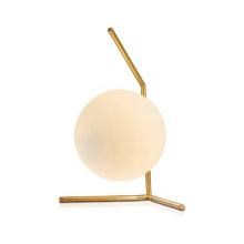 Minimalist White Glass Ball Indoor Table Lamp