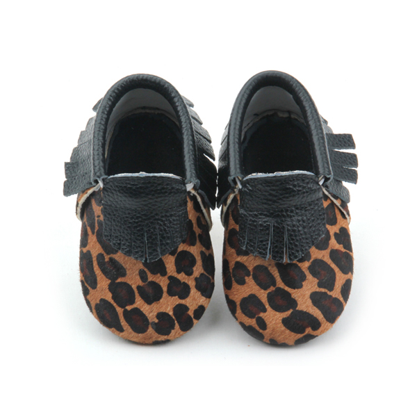 Real Leather Baby Leopard Patterns Moccasins