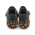 Real Leather Leopard Pattern Mocassini