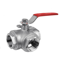 3-Way Ball Valve Screw Ends, 1000wog