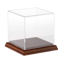 Clear Acrylic Display Case with Hardwood Base