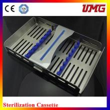 Cassete esterilizadora Dental inoxidável M185X110
