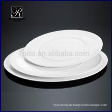 Keramikplatte Geschirr Mikrowelle doppelte ovale Platte