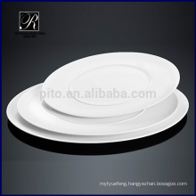 Ceramic plate dinnerware microwave double oval plate