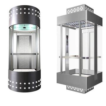 Ascensor panorámico Fujizy para pasajeros con sala de máquinas