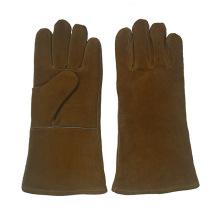 Golden-Brown Heavy Duty Welding Gloves with Ce En12477