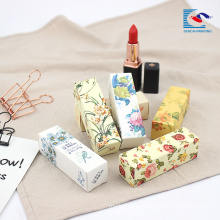 100% original latest makeup lipstick flower printing box packaging