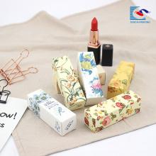 100% оригинал последний макияж помада цветок печать упаковочной коробки