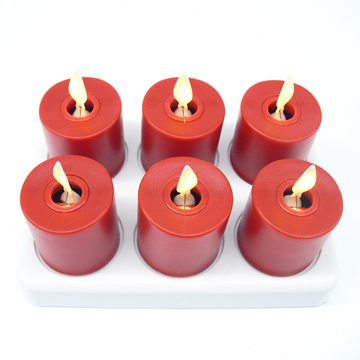 moving wick rechargeable led tea light candle