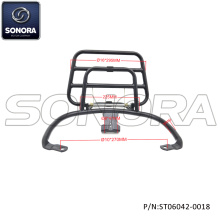 VESPA Primavera Rear carrier-Gloss black (Référence: ST06042-0018) Top Quality