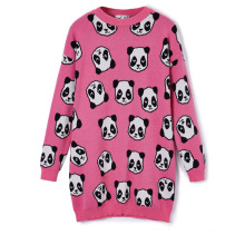 13STC5229 jacquard sweater design for ladies crewneck sweater