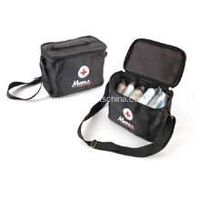 Logo Imprint First Aid Kits W/ Shoulder Bags