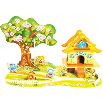 3D Cartoon-Paradies-Puzzle