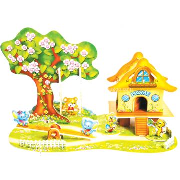 3D Cartoon Paradise Puzzle